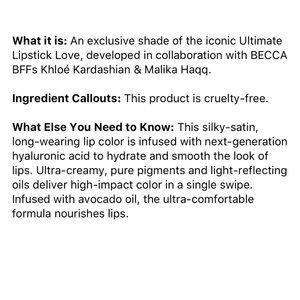 BECCA Makeup - Becca Cupid's KISS Lipstick by Khloe Kardashian